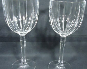 Waterford Crystal Omega  Two Wine Goblets