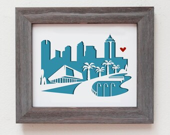 Tampa - FLorida. Personalized Gift or Wedding Gift