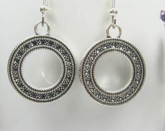 Silver earrings, surgical stainless steel, nickel free earrings, bohemian earrings, moroccan earrings, silver dangle earrings, ladies gift