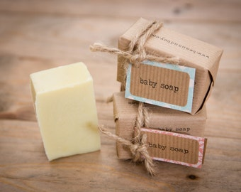 Top to Toe Baby Soap: Certified Natural Vegan Handmade Soap (Cold Process) | Fragrance Free Soap | All Natural Soap | Gentle Soap | Shampoo