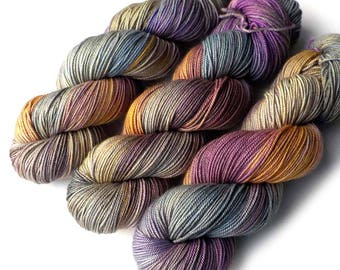 Hand dyed Yarn Boston Bouncy Sport Superfine Merino Silk Handdyed Yarn Foggy Flowers