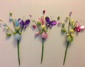 Easter bunny pick,Easter decoration pick,Spring decor pick,Easter beads pick,Easter beads bunny pick