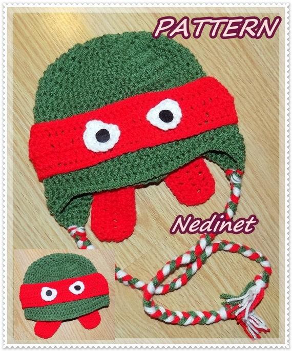 Crochet Pattern Crochet Ninja Turtle Hat Teenage Mutant Ninja