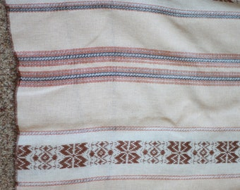 Boho + Southwestern Striped Table Cloth | Thin/Sheer | Brown and Tan