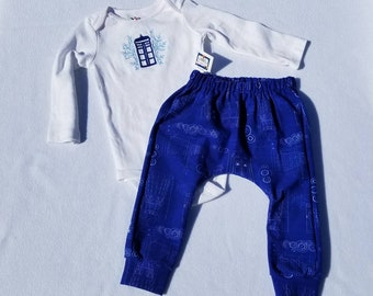SALE - Doctor Who Inspired TARDIS Creeper and Pants set