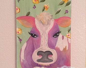 Besita the Fancy Cow - original art