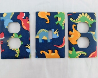 Dinosaur Light Switch Plate Outlet Plug Cover Custom Wall Plate Rocker Cable Double Triple Oversize Cover