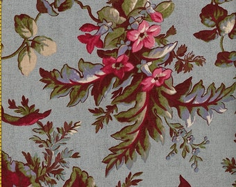 The Blue and the Gray Large Floral Civil War Reproduction   By the Yard