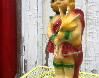 "Carnival Prize Chalkware ""Highland Lassie"" Statue"