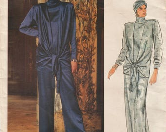 Very Easy Vogue 1469 / Paris Original / Vintage Designer Sewing Pattern By Christian Dior / Evening Pants Trousers Skirt Top / Size 10