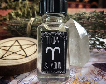 Aries Oil Blend - Zodiac Ritual Oil - Pure Essentail Oils- Peppermint, Basil, and Lemon