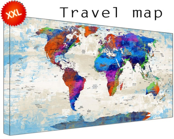 Travel World Maps CanvasConquest
