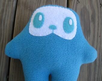 BLUE plush monster doll plushie mascot