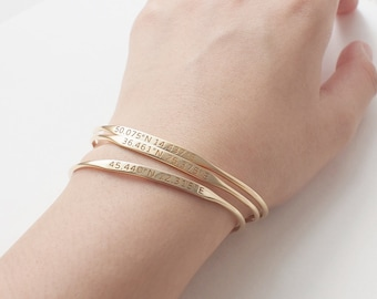 bracelet products longitude latitude lookbadass bangle
