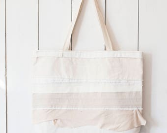 Upcycled One-Of-A-Kind Scrappy Tote Bag 3