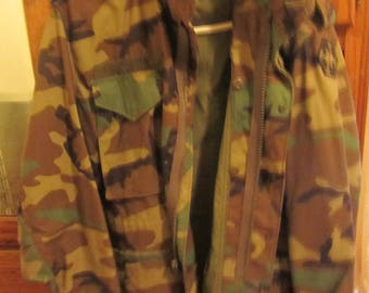 US Army fatigue cold weather coat BDU medium short vintage