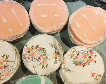 Reusable Cotton Rounds, Reusable Cotton Pads, Reusable Facial Rounds, Reusable Face Pads, Facial Rounds, Cotton Pads, Zero Waste