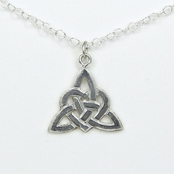 Love Knot Pewter Necklace Large Symbol Of Never Ending Love