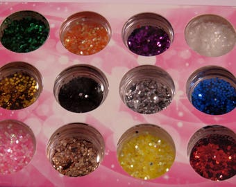 glitter for nail decoration