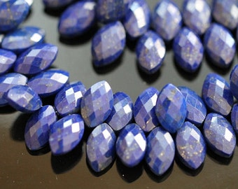 Lapis Lazuli Faceted Marquise Briolettes, 12 - 13 mm, Half Strand, 22 beads GM1901FM/12, #316