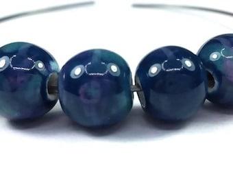 Blue/purple: 10 (pc135) 10mm ceramic beads