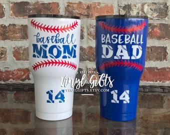 Baseball Mom Baseball Dad RTIC 30 ounce / Baseball Mom / Baseball Dad / Baseball Cup / Baseball Parent / Baseball Tumbler / Base