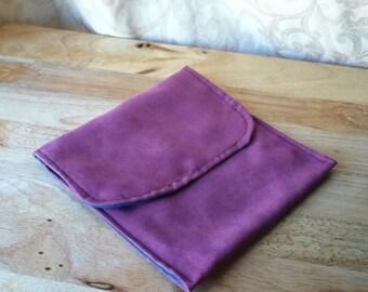 Purple Suede Cosmetic Case