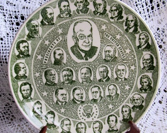 Presidents of the United States Collector Plate!  We also have Corn Bags, Baby Quilts, Dog Quilts, Dog Toy, Cross Stitch,  more Treasures!