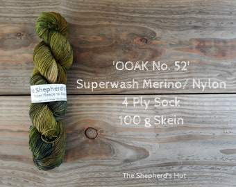 Superwash Merino/Nylon 75/25 Sock yarn 100 g OOAK No. 52