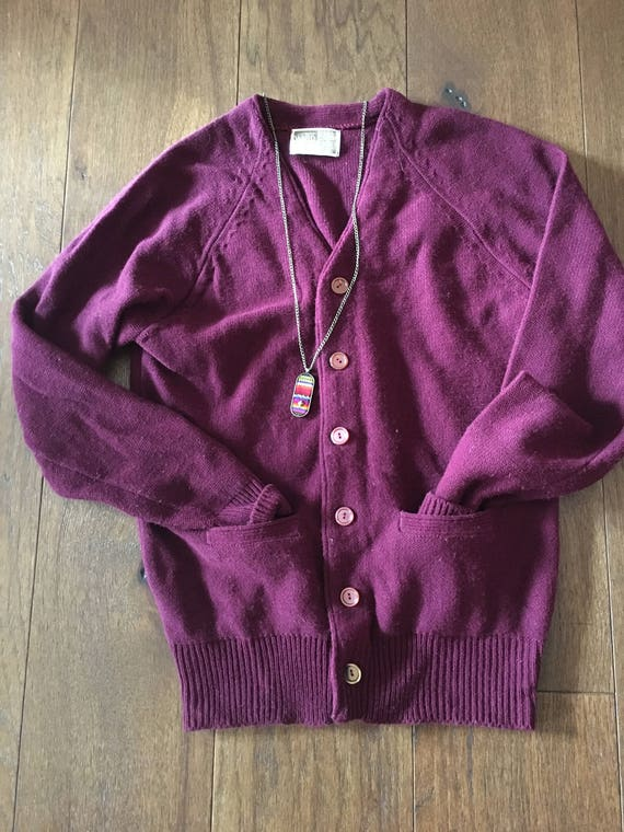 Montgomery Ward Cardigan Sweater pullover button up Men's Small Women's small Women's medium slouchy sweater baggy sweater NDaMSgrc