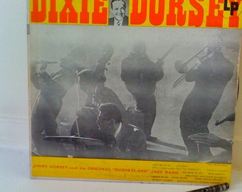 Now On Sale Rare Vintage Collectible Music 1950s Dixie By Dorsey/ Vinyl LP Record-Jimmy Dorsey with Original Dorseyland Jazz Band CL 608