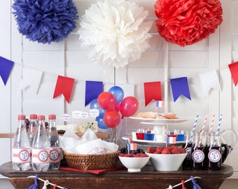 Bastille Day Party Printables Decor 14th Of July French