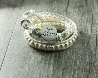 Wedding Jewelry Actual Handwriting Memorial Wrap Bracelet
