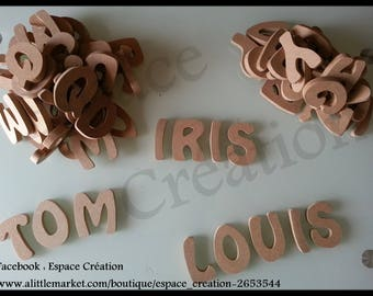 Letters alphabet MDF cut to customize