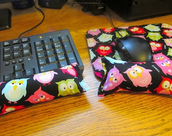 Owl Computer Wrist Rest and Mouse Pad, Keyboard Wrist Supports