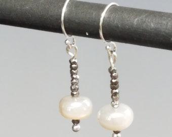 Moonstone Earrings Moonstone Beaded Earrings