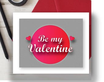 Valentines Card, printable valentines day card, card for boyfriend, card for girlfriend