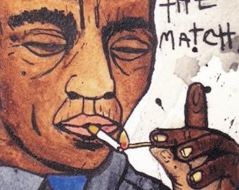 James Baldwin Light the Match Postcard