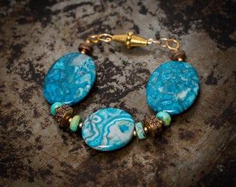 Jasper and Turquoise Bracelet