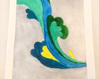 Silver Splash (watercolor)