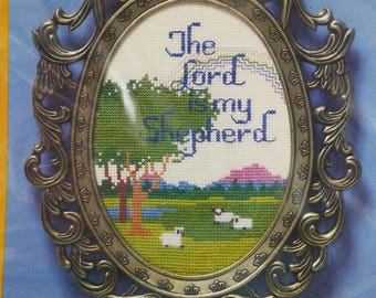 Lord Is My Shepherd Counted Cross Stitch Kit with Metal Frame