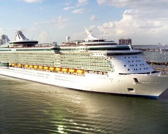 Cruise Ship Digitial Photo