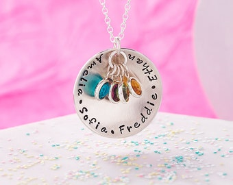 Birthstone Necklace / Family Necklace / Family Necklace with Birthstones / Mother Necklace / Grandmother Necklace / Grandma Necklace