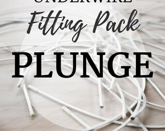 Plunge Underwire Fitting Pack! Three Pair of Underwire to Find your Perfect Fit!