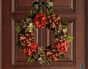 Hydrangea Wreath | Summer Wreaths | Wreath | Front Door Wreaths | Fall Door Wreath | Fall Wreaths | Wreaths for Door