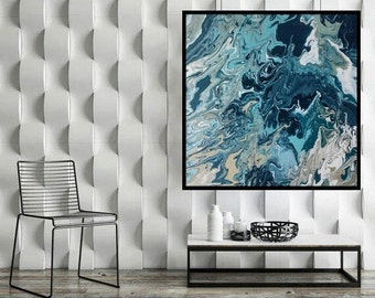 Uncalm Sea -- Original Art Print 24x24