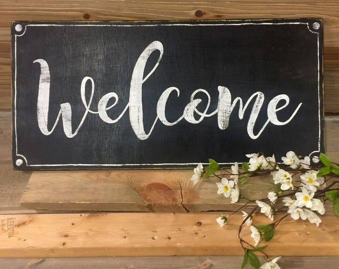 Welcome Sign. Welcome Wedding Sign. Welcome Sign for Front Door. Front Porch Signs. Rustic Home Decor. Farmhouse Decor. Farmhouse Signs.