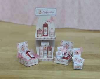 Crabtree & Evelyn Miniature perfumes, EVELYN ROSE, 1/12th scale - Various displays, Exclusive, Limited.