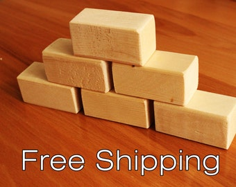 30 Rectangular wood blocks, wood building blocks, all natural wooden toy. Handmade Wood block set.