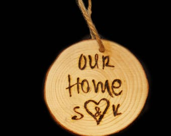 Our Home - wooden circle